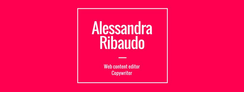 Alessandra Ribaudo, copywriter