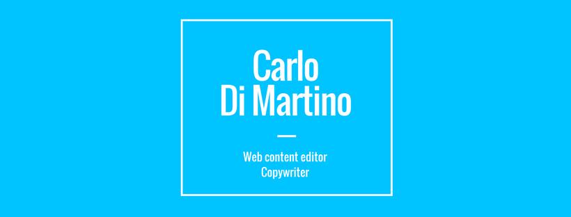Carlo Di Martino, Copywriter