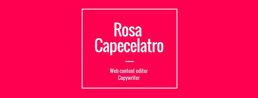 Rosa Capecelatro, Copywriter
