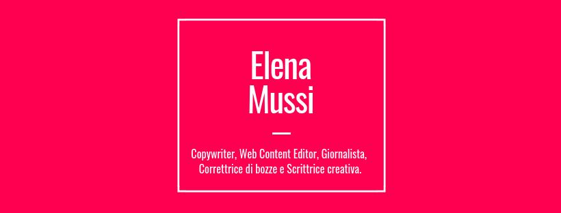Elena Mussi, Copywriter